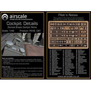Airscale PE Cockpit Details / Etched Brass Cockpit Parts - 1:48