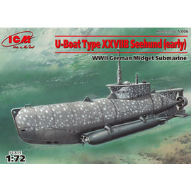 "ICM ICM - U-Boat Type XXVIIB ""Seehund"" (early) WWII German Midget Submarine - 1:72"