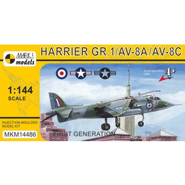 """Mark I. Mark I. - Hawker Siddeley Harrier GR.1/AV-8A/AV-8C """"First Generation"""" - 1:144"""
