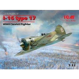 ICM ICM -Polikarpov  I-16 type 17 WWII Soviet Fighter - 1:32