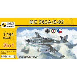 """Mark I. Mark I. - Messerschmitt Me 262A-1/Avia S-92 """"Interceptor"""" - 1:144"""