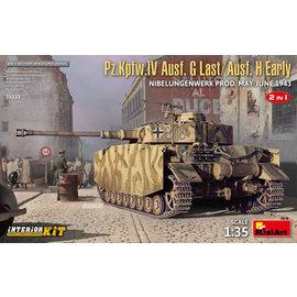 MiniArt MiniArt - Pz.Kpfw.IV Ausf. G Last / Ausf. H Early Nibelungenwerk May-June 1943 - 2 in 1 w/Interior - 1:35