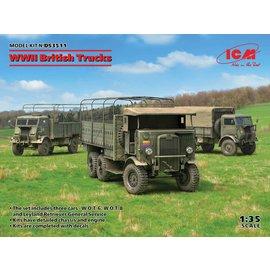 ICM ICM - 3 x WWII British Trucks Model W.O.T. 6, Model W.O.T. 8, Leyland Retriever General Service - 1:35