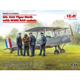 ICM ICM - DH. 82A Tiger Moth with WWII RAF cadets - 1:32