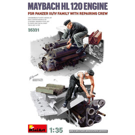 MiniArt MiniArt - Maybach HL120 Engine for Panzer III/IV Family with Repair Crew - 1:35