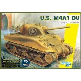 Dragon Dragon - U.S. M4A1 DV Sherman (w/Magic Tracks) - 1:35