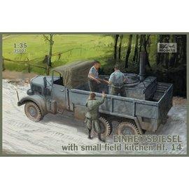 IBG Models IBG - Einheitsdiesel with small field kitchen Hf. 14 - 1:35