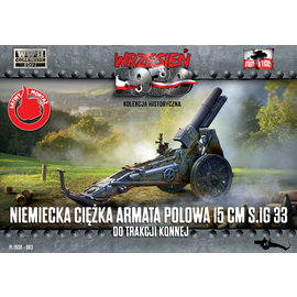 First to Fight First to Fight - German heavy field gun 15 cm SIG 33 for horse traction - 1:72