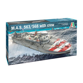 Italeri Italeri - M.A.S. 568 4a Torpedoboot m. Crew - 1:35