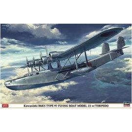 Hasegawa Hasegawa - Kawanishi H6K5 Type 97 Flying Boat Model 23 w/Torpedo - 1:72