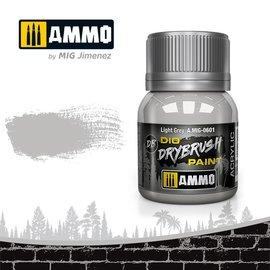 AMMO by MIG AMMO - Drybrush Light Grey