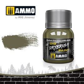AMMO by MIG AMMO - Drybrush Medium Olive Green