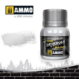 AMMO by MIG AMMO - Drybrush Light Metal