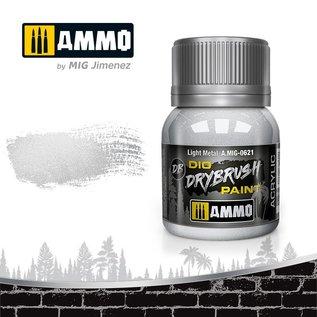 AMMO by MIG Drybrush Light Metal