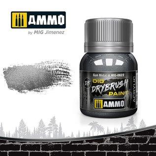 AMMO by MIG Drybrush Light Gun Metal
