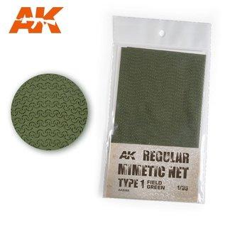 AK Interactive Tarnnetz, modern Typ 1  field green - 1:35