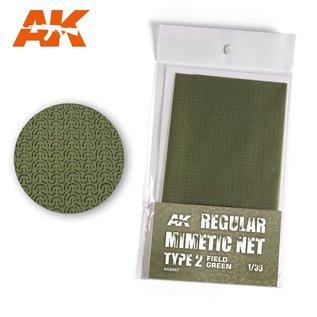 AK Interactive Tarnnetz, modern Typ 2  field green - 1:35