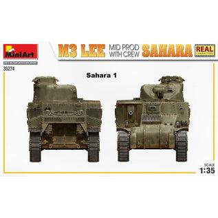 MiniArt M3 Lee Mid Prod. Sahara w/crew - 1:35