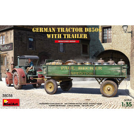 MiniArt MiniArt - German Tractor D8506 with Trailer - 1:35