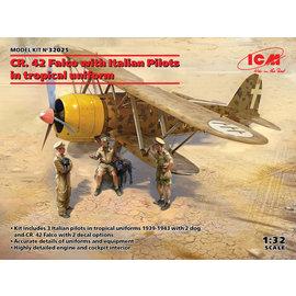"ICM ICM - Fiat CR.42 ""Falco"" w/Italian Pilots in Tropical Uniform - 1:32"