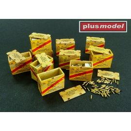 Plusmodel Plusmodel - U.S. Munitionskisten für Cal.50 Patronen / US ammunition boxes for cartridges - 1:32
