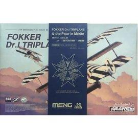 MENG MENG - Fokker Dr. I Triplane & Blue Max Medal - Limited Edition - 1:24