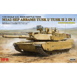 Ryefield Model RFM - M1A2 SEP Abrams TUSK I/TUSK II 2 in 1 w/full interior - 1:35