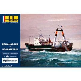 Heller Heller - Trawler ROC AMADOUR & BODASTEINUR - Twinset - 1:200