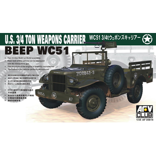 AFV-Club BEEP WC51 3/4ton Weapons Carrier - 1:35