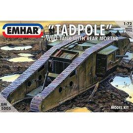 """Emhar Emhar - brit. Mk. IV """"Tadpole"""" WWI Tank w/ rear mortar - 1:72"""