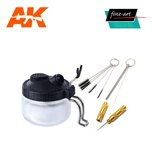 AK Interactive Fine Art Airbrush Cleaning Station Set