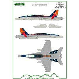 """Modelmaker Decals ModelMaker - Spanish F/A-18A """"Worimi Hornet"""" - 1:48"""