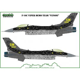 "Modelmaker Decals ModelMaker - F-16C Viper Demo Team ""Venom"" - 1:48"