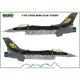 "Modelmaker Decals ModelMaker - F-16C Viper Demo Team ""Venom"" - 1:72"