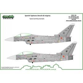 Modelmaker Decals ModelMaker - Spanish Typhoons - stencils and insignias - 1:48