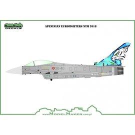 Modelmaker Decals ModelMaker - Apeninian Eurofighters NTM 2018 - 1:48