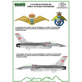 Modelmaker Decals ModelMaker - F-16A Royal Danish Air Force 66 Years anniversary - 1:48