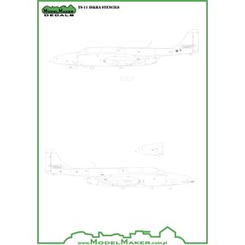 Modelmaker Decals ModelMaker - TS-11 Iskra - stencils - 1:72