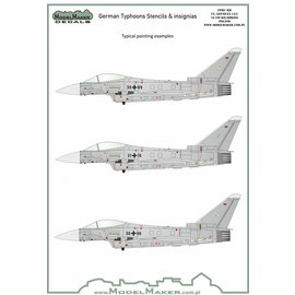 Modelmaker Decals ModelMaker - German Typhoons Stencils & insignias - 1:72