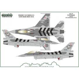 Modelmaker Decals ModelMaker - Polish F-16 NATO Tiger Meet 2018 - 1:72