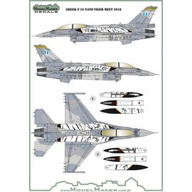 Modelmaker Decals ModelMaker - Greek F-16 NATO Tiger Meet 2018 - 1:72
