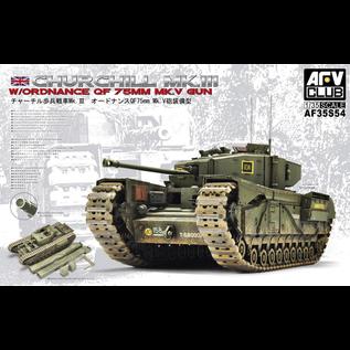 AFV-Club British Tank Churchill Mk. III w/Ordnance QF 75mm Mk. V Gun - 1:35