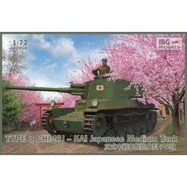 IBG Models IBG - Type 3 Chi-Nu Kai Japanese Medium Tank - 1:72