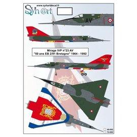 "Syh@rt Decals Syhart Decals - Mirage IVP #23 AV ""50 years EB 2/91 Bretagne"" 1942-1992 - 1:72"