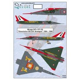 "Syh@rt Decals Syhart Decals - Mirage IVP #57 CD ""Retirement EB 2/91 Bretagne"" 1964-1996 - 1:72"