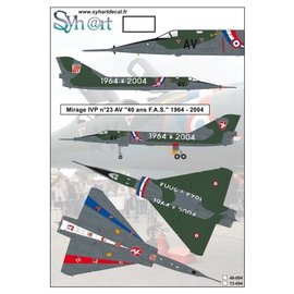 """Syh@rt Decals Syhart Decals - Mirage IVP #23 AV """"40 years FAS"""" 1964-2004 - 1:72"""