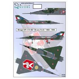 """Syh@rt Decals Syhart Decals - Mirage IVP #31 BD """"30 years FAS"""" 1964-1994 - 1:72"""