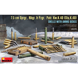 MiniArt MiniArt - 7.5 cm Sprgr., Nbgr. & Pzgr. Patr. Kw.K.40 (Stu.K.40) 35375 - 1:35