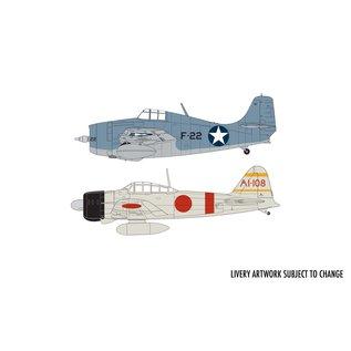 Airfix F4F-4 Wildcat Mitsubishi Zero Dogfight Doubles - 1:72