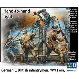Master Box Master Box - British & German infantrymen Hand to hand Fight WWI era - 1:35